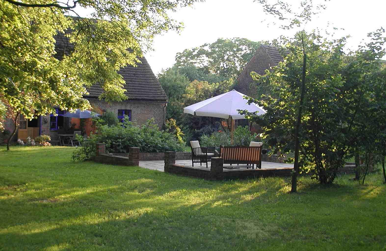 Gartenblick. | Ferienwohnungen Müritz - Alte Ziegelei