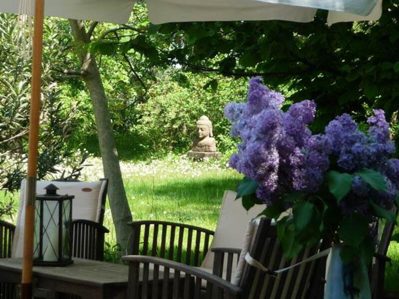 Ausblick von der Gemeinschaftsterrasse. | Ferienwohnungen Müritz - Alte Ziegelei