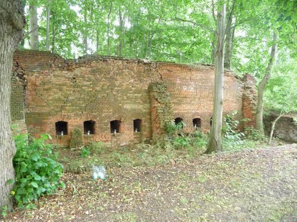 Ruine des Kasseler Brennofens heute. | Ferienwohnungen Müritz - Alte Ziegelei