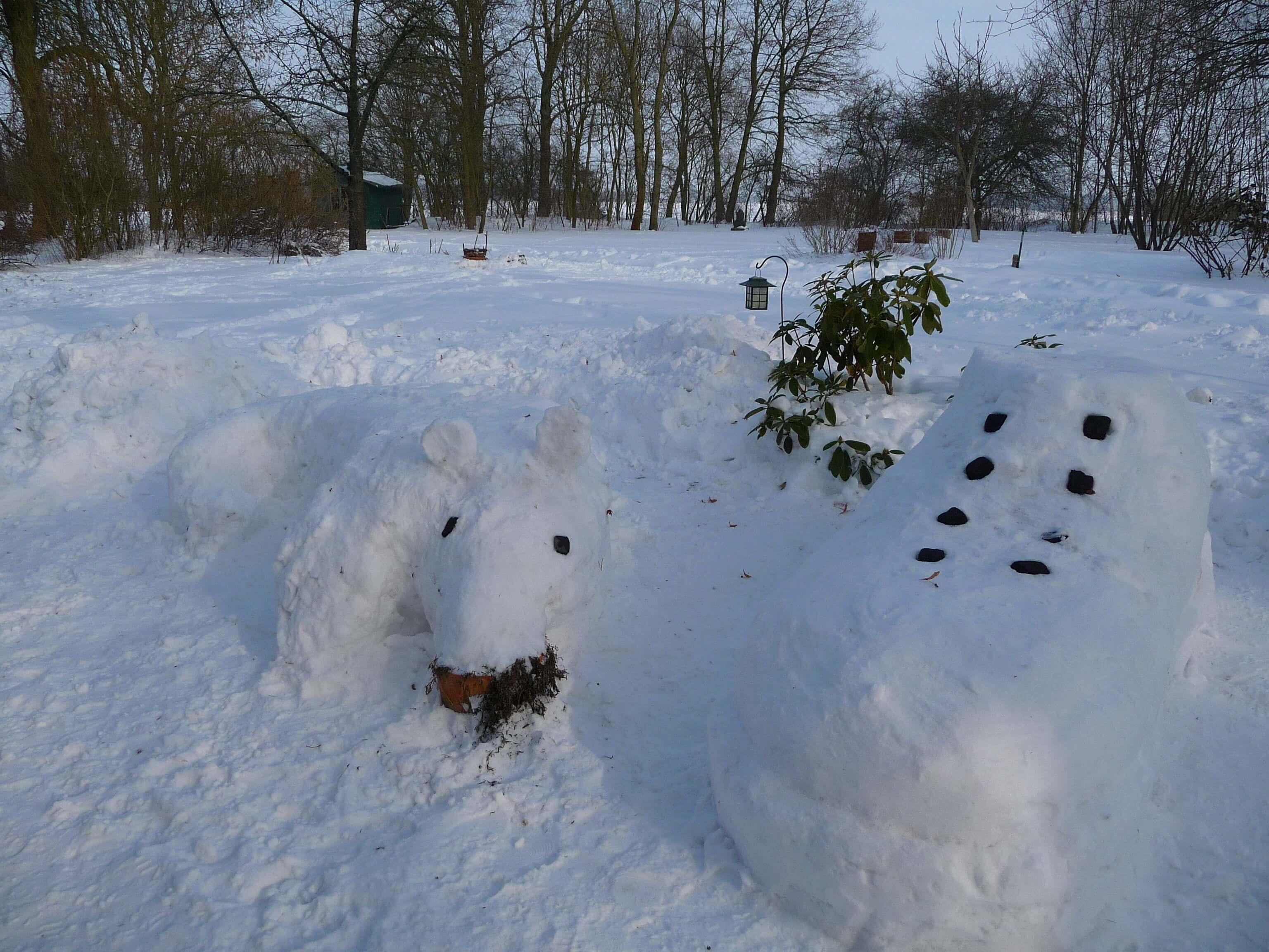 So viel Schnee - inzwischen eine Seltenheit. | Ferienwohnungen Müritz - Alte Ziegelei
