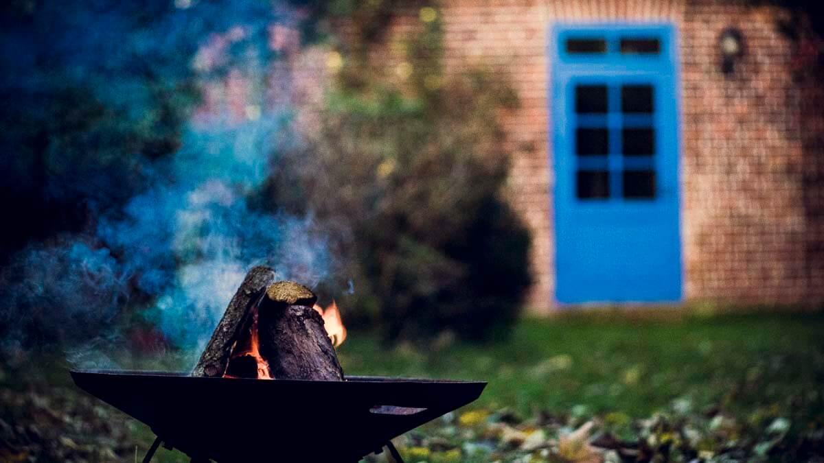 Kleine Feuerstelle. | Ferienwohnungen Müritz - Alte Ziegelei